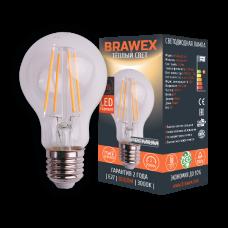 Светодиодная (LED) лампа BRAWEX ФИЛАМЕНТ 8Вт мягкий свет A60 Е27