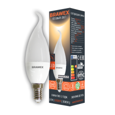 Светодиодная (LED) лампа 7Вт мягкий свет B35Q Е14