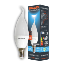 Светодиодная (LED) лампа 7Вт яркий свет B35Q Е14