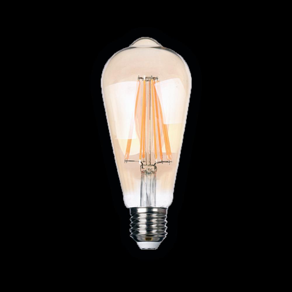 Светодиодная (LED) ретро лампа BRAWEX ФИЛАМЕНТ 8Вт мягкий свет ST64 Е27