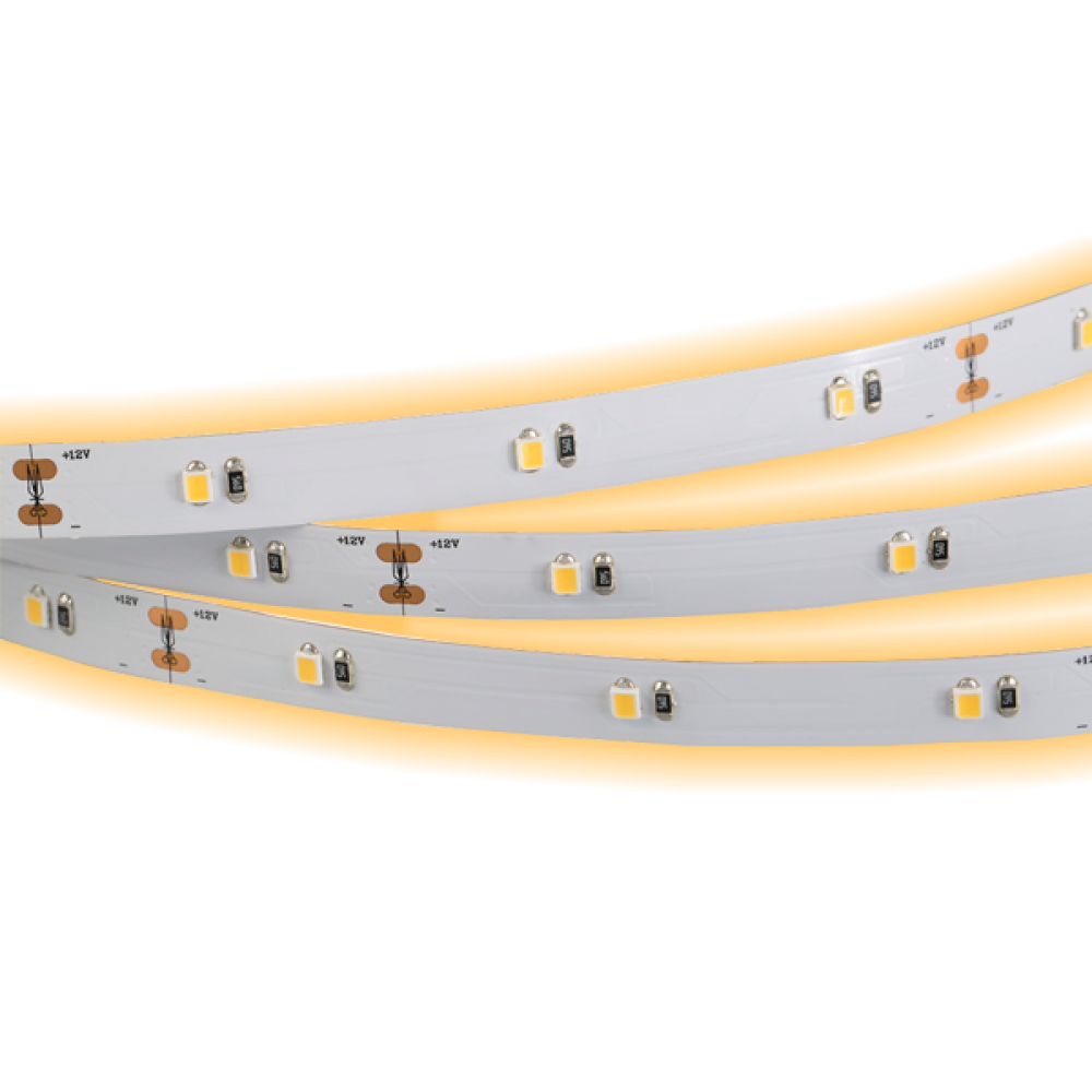 Светодиодная лента: 4.8Вт, 24В, 30шт/м, 2835, мягкий свет IP20