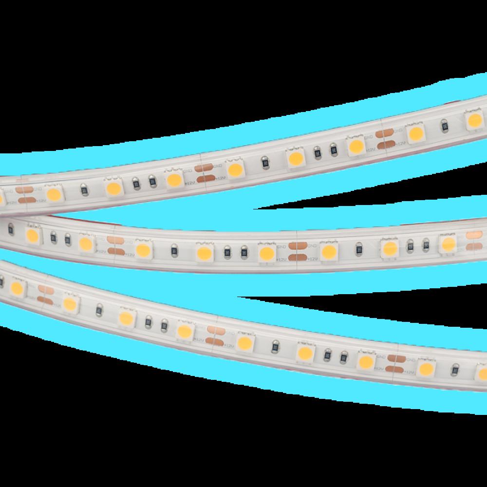 Светодиодная лента: 14.4Вт, 12В, 60шт/м, 5050, яркий холодный свет IP20
