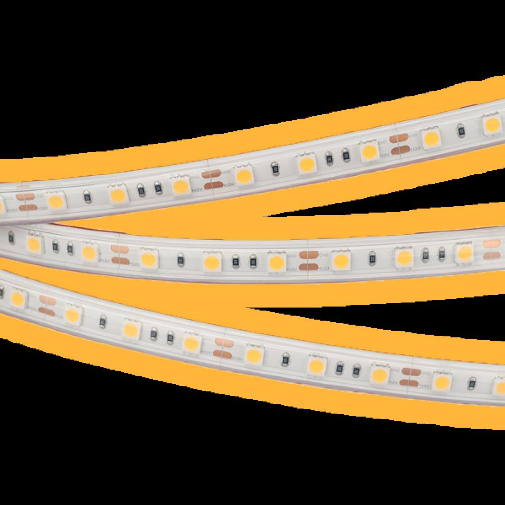 Светодиодная лента: 14.4Вт, 24В, 60шт/м, 5050, мягкий свет IP20