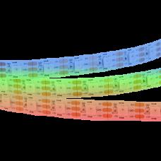 Светодиодная лента: 14.4Вт, 12В, 60шт/м, 5050, разноцветная IP20